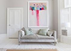 ABSTRAKTE Malerei Fine Art Fine Art Print weiße von LolaDonoghue