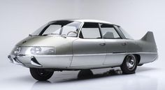 One-off diamond-layout 1960 Pininfarina X heads to auction | Zero point two-zero, or better than the Tatra T77 and almost as good as the GM EV1. That's the coefficient of drag rating for the 1960 Pininfarina X, one of the most aerodynamic cars built and one of the oddest, thanks to its diamond-shaped wheel layout. It also makes it the most aerodynamically efficient vehicle to cross the block at next month's Barrett-Jackson sale.