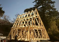 This compact a-frame home was built by AVRAME/Endure Home