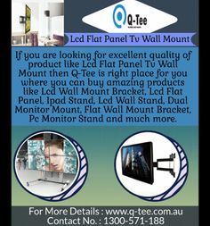 Large flat wall mount bracket - (Universal for to TV's)