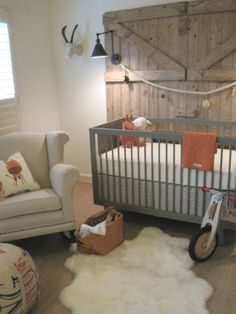 63 Rustic Baby Boy Nursery Room Design Ideas - About-Ruth Rustic Nursery, Nursery Wall Decor, Nursery Design, Nursery Room, Nursery Ideas, Western Nursery, Vintage Nursery, Farm Nursery, Chic Nursery