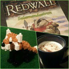 Red Panda birthday, Part 1: Redwall, nanoblocks, Arctic white hot chocolate w/ toffee bits