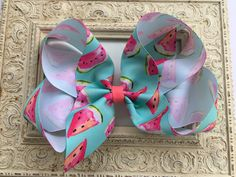 Excited to share this item from my shop: Watermelon Hair Bow Large Hair Bows Large Hair Bow Girls Hair Bows Blue Hair Bow Big Hair Bows Big Hair Bow Big Bow Huge Hair Bow 6 inch Bow Blue Hair Bows, Large Hair Bows, Diy Hair Bows, Big Bows, Boutique Hair Bows, Boutique Clothing, Big Hair, Fall Hair, Grosgrain Ribbon