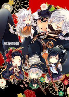 Hotarumaru, Nakigitsune, Jiroutachi, Taroutachi