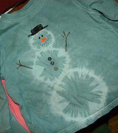 Snowman Tie Dye Shirt/ easy / FREE instructions