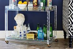lucite bar cart - Google Search