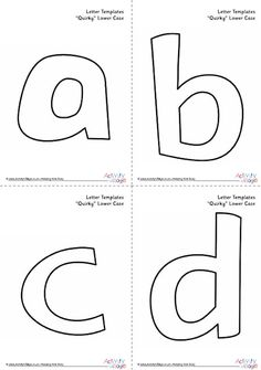 Free ABC Printable letter templates for preschool or
