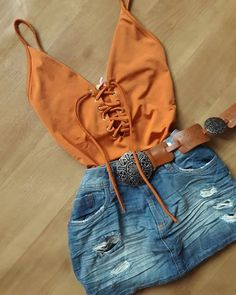 Clothes Ideas Archives - Best DIY and Crafts Ideas Cute Summer Outfits, Short Outfits, Trendy Outfits, Cute Outfits, Teen Fashion, Fashion Outfits, Womens Fashion, Cowgirl Outfits, Tumblr Outfits
