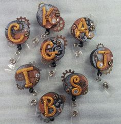 Hey, I found this really awesome Etsy listing at https://www.etsy.com/listing/177797898/personalized-steampunk-id-badge-reels