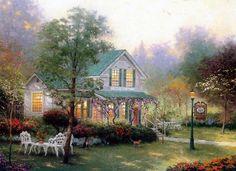 Thomas Kinkade Paintings. Gallery: http://pinterest.com/sunartgallery/painting-drawing/ Album: http://www.facebook.com/media/set/?set=a.652604821435317.1073741827.518805924815208