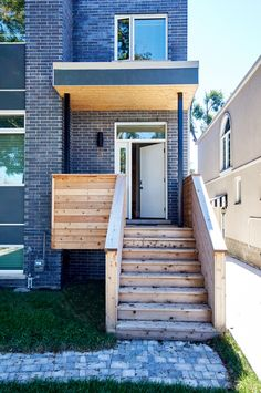 Front porch of Pape Village, a passive and active solar home by Solares Architecture