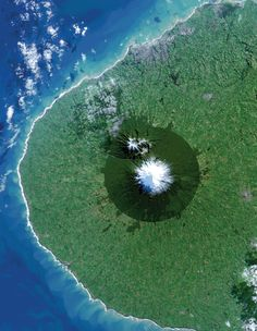 Egmont National Park in New Zealand and Mount Taranaki - 25 Amazing Aerial Photos  Satellite Images  Best of Web Shrine