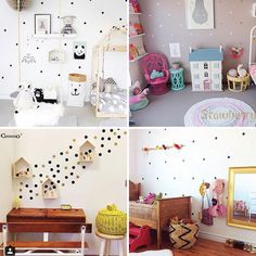 1.75AUD - Scandinavian Removable Golden Dots Children Diy Decoration Wall Stickers #ebay #Home & Garden