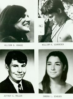 The four murdered students at the The Kent State Massacre were Allison Krause, William Schroeder, Jeffrey Miller and Sandra Scheuer.