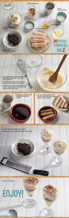 This ten-minute tiramisu for two is easy to make and even easier to enjoy!