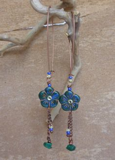 Flowers earrings by OwlforU on Etsy, $25.00