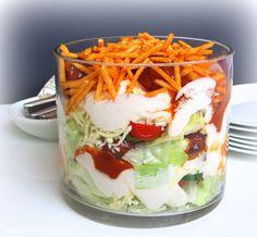 Rezepte mit Herz ♥: Hackbällchen - Schichtsalat