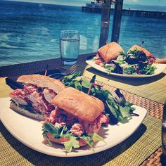 Lobster sandwich. Ooh yea!  #CarbonBeachClub #MalibuBeachInn #Malibu #restaurant #dining #lobster