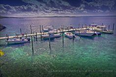 A view from Firefly's docks on Elbow Cay, Abaco, Bahamas