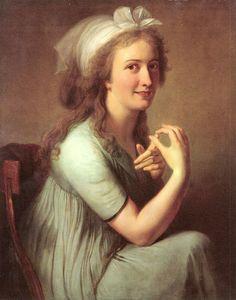 Caroline Scheffauer, geb. Heigelin; um 1792/94 Ölbild von Philipp Friedrich Hetsch (Galerie der Stadt Stuttgart)