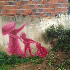 Street art in Brazil by Jerry Batista.