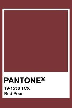 Pantone Poire Rouge #pantone #poire #rouge