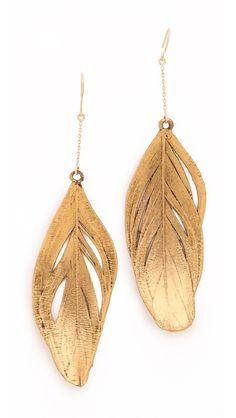 Aurelie Bidermann - Swan feather earrings