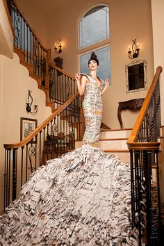Newspaper Gown... for future Burning Man