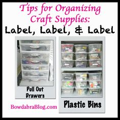 Tips for Organizing Craft Supplies: Label, Label, Label - Bowdabra Blog