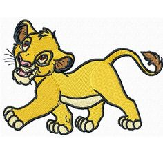 """3.94 × 2.83""""~All Embroidered Lion King Iron on Patches     are                  made        of high quality,  felt     (Eco-friendly       polyester      made   from               recycled  post-customer     plastic            bottles) ~Iron on applique can be applied to Tops, towels, bags, cd  cases, pants, jackets and more... ~1000's                                 of designs available,  Everything from     Angry       Birds    to        Ziggy,    If      your    do  not see  the…"""