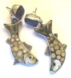 Kristin Holeman fish earrings
