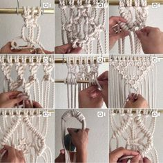 Over the last two and a half years I've shared many How To/DIY videos as a part of a 'Thank Goodness It's Fiber Friday' video… Likes, 91 Comments - Elsie Goodwin How to Make a SharpJust another close up some Macrame Knots. Macrame Design, Macrame Art, Macrame Projects, Micro Macrame, How To Macrame, Macrame Wall Hanging Patterns, Macrame Patterns, Art Macramé, Macrame Curtain