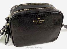 Kate-Spade-WKRU3925-Pyper-Mulberry-Street-Black-Leather-Crossbody-Purse-NEW-199