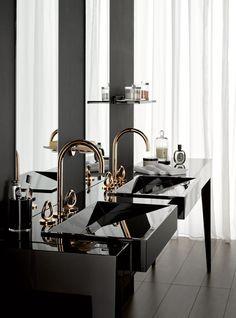 Rose Gold is design trend - Tempo da Delicadeza * Find more inspirations at http://www.maisonvalentina.net/en/inspiration-and-ideas/  #bathroomdesignideas #amazingbathrooms #luxurybarhrooms