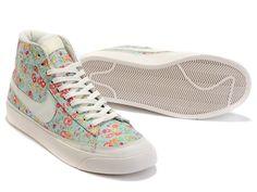 Cheap 403729 003 Nike Blazer MID PRM white flower women