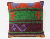 designer throw pillow embroidered pillow knit pillow cover throw pillow kilim nursery decoration couch throw pillow green kilim pillow 20568