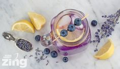 Lavender Lemonade | Refreshing lemonade with a hint of calming lavender and antioxidant-rich blueberries.
