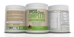 Super Duper Green Complete, Berry Flavored Powder with Goji and Acai, 2 Ounces, All Natural Superfood! High potency cruciferous vegetables (broccoli, spinach, wheat grass and others), natural ingredients believed to assist in cell development and the prevention of certain cancers. Powerful Antioxidants. Vitamins and Minerals. Need to get those extra vitamins, minerals and antioxidants? Whole Food Nutrition. Made with Pride in the USA in a GMP Facility. How to use this Superfood?....