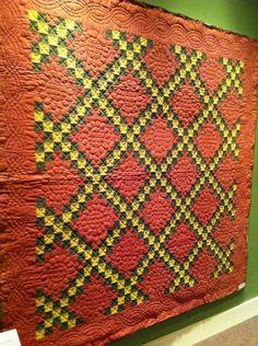 antique amish irish chain quilt