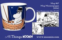 Mug – Moominpappa Produced: Illustrated by Tove Slotte and manufactured by Arabia. The original artwork can be found. Moomin Mugs, My Childhood, Original Artwork, The Originals, History, Tableware, Illustration, Troll, Den