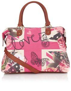 Floral Union Jack Weekender Bag
