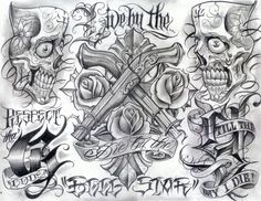 Tattoo Art | chicano style flashes - Dragon-Tattoo Hamburg