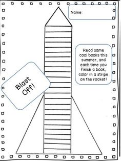 Easy-breezy reading chart I'd send this home without the summer note and incorporate it with my outer space unit.