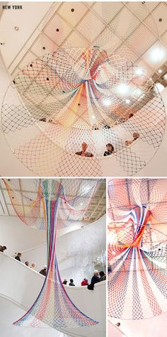 sculpture nets by Janet Echelman