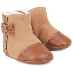 Tan Brogue Crib Boot