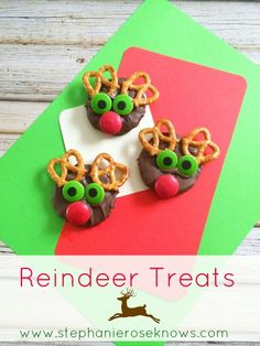Looking for a cute Christmas treat? Try these Reindeer Treats.