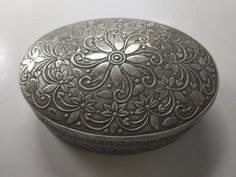 Vintage Oval Repousse Silver Box Serving Bowls, Decorative Bowls, Box, Tableware, Silver, Vintage, Snare Drum, Dinnerware, Tablewares