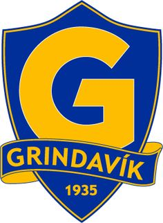 Grindavik of Iceland crest. Soccer Logo, Football Team Logos, Men's Football, European Football, Chevrolet Logo, Crests, Badges, Iceland, World