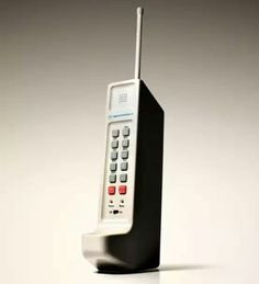 Motorola DynaTAC - first commercially available cell phone.