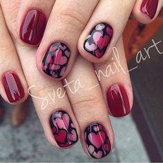 80 Inspiring Lovely Valentine Nail Art Design Ideas #nailart